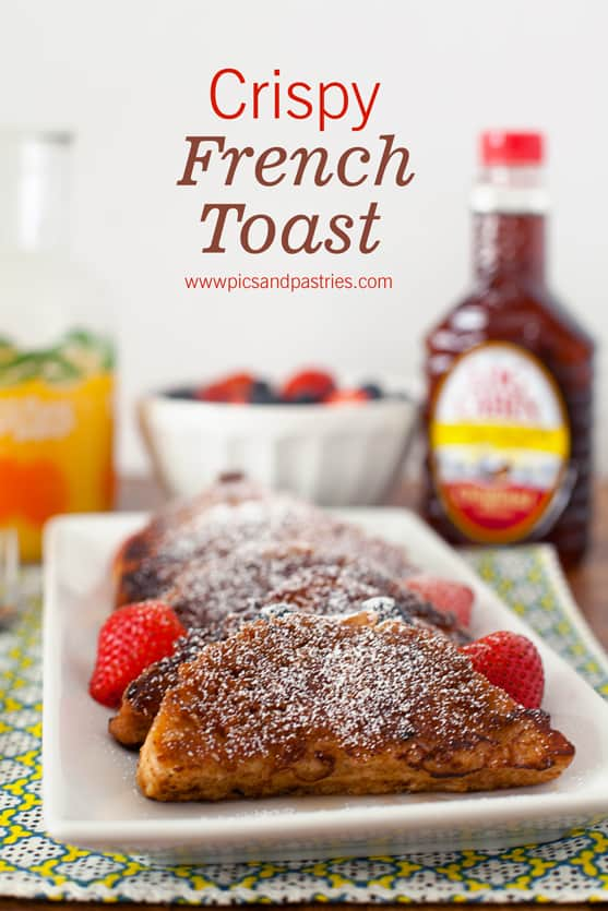 Crispy French toast: Thick slices of texas-toast with an outer crunchy ...