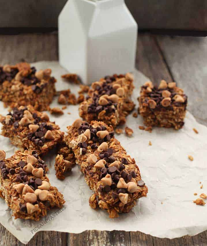 Peanut Butter and Pumpkin Granola Bars-picsandpastries
