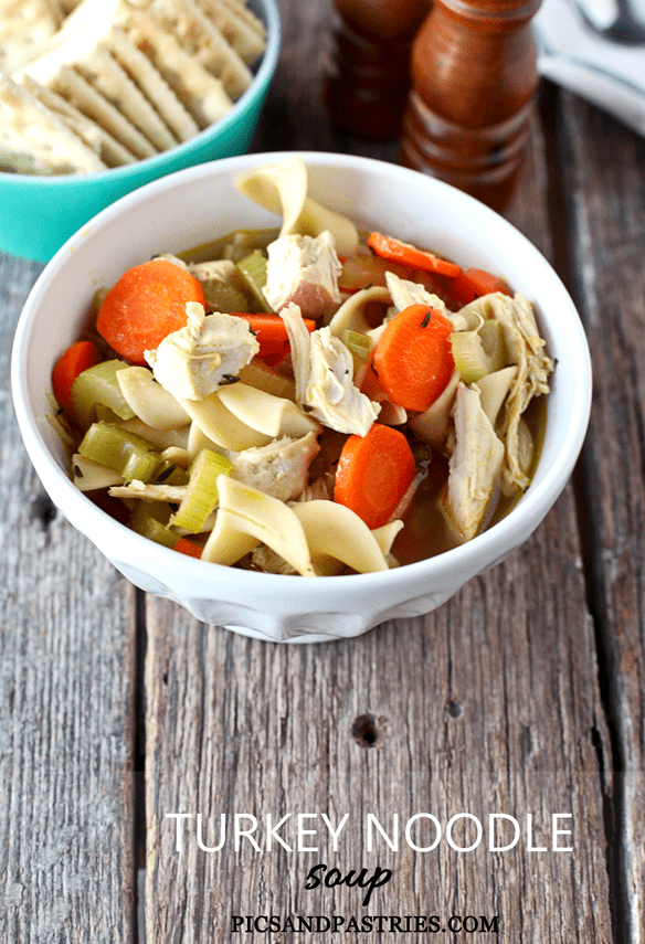 Turkey Noodle Soup -Leftover Turkey from Thanksgiving, carrots, celery ...