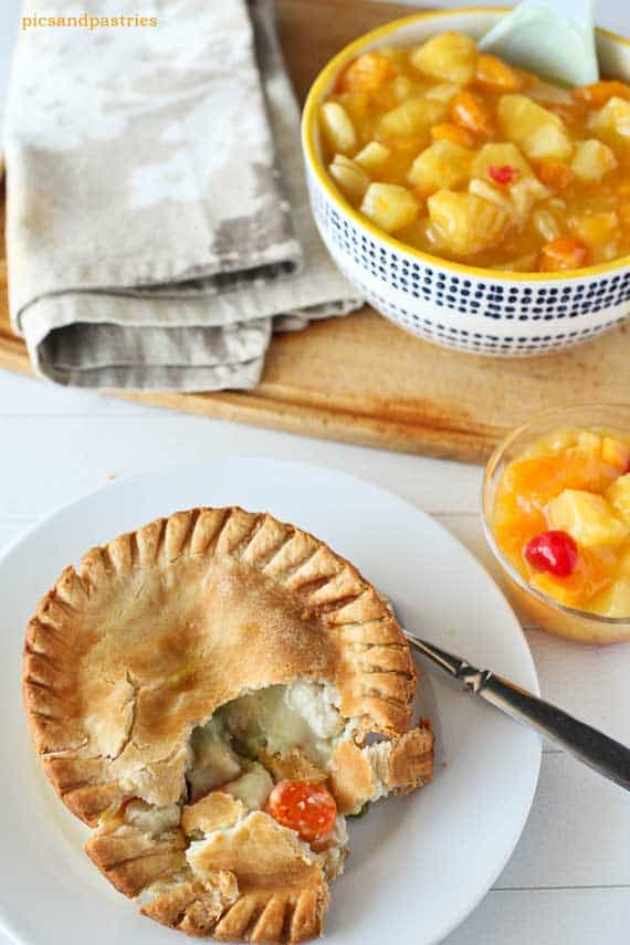 Marie Callender's Pies with Fruit Salad