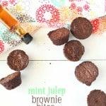 Mint Julep Brownie Bites