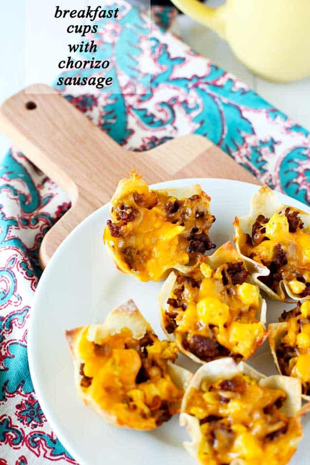 breakfast cups with chorizo sausage