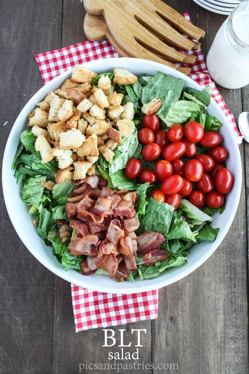 BLT Salad with parmesan buttermilk dressing