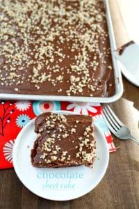 homemade chocolate sheet cake
